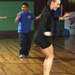 Jessica shows our students how to move and groove.